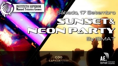 Sunset & Neon Party Flyers