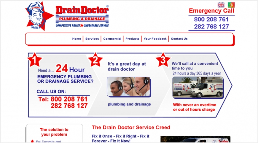 Drain Doctor Website