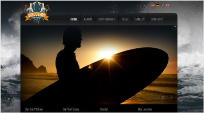 Discovery Surf School Website