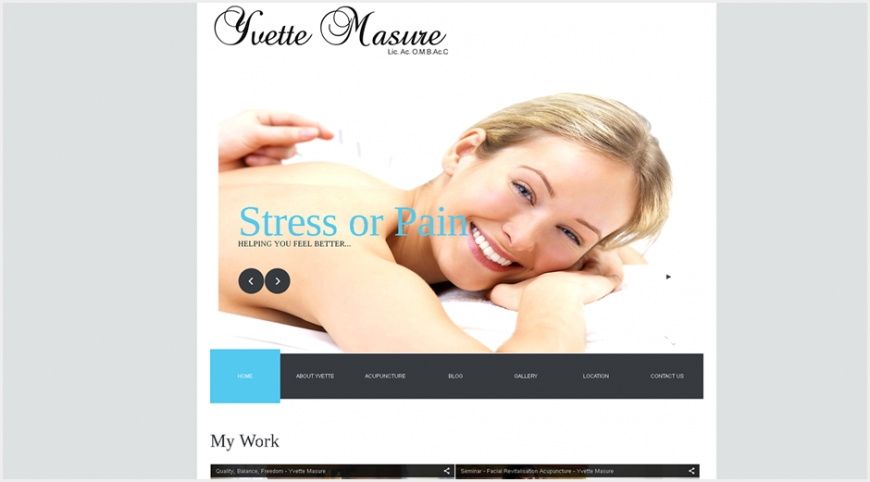 Yvette Masure Website